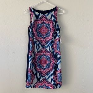 Vince Camuto blue and pink dress NWT size 4